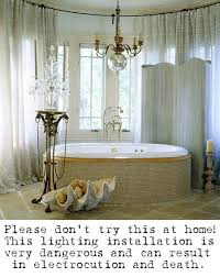 Chandelier Over Bathtub Code by House Revivals E Is For Electricity And Bathroom Chandeliers