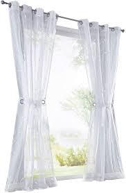gardinenschals eslir gardinen mit ösen vorhänge transparent