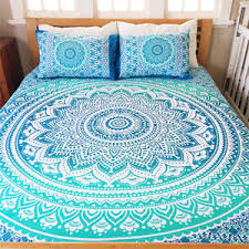 Ombre Mandala Duvet Cover King Size Indian Quilt Cover Cotton