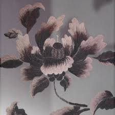 100 Flannel Flower Glass Hand Embroidery Peony Partition Black White 2 Frames