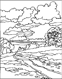 Landscape Coloring Pages Free To Print