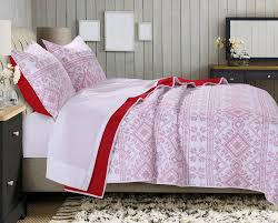 Greenland Home Bedding by Holly Cross Stitch White Quilt Set Gl 1707bmst Novelty Kids