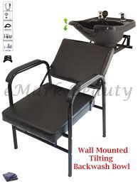 salon backwash shoo bowl sink wall mounted reclining shoo