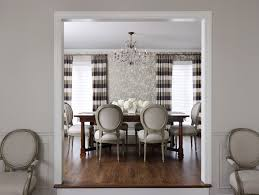 Cool Horizontal Striped Curtains Trend Chicago Traditional Dining Room Innovative Designs With Accent Wall Branches Chandelier