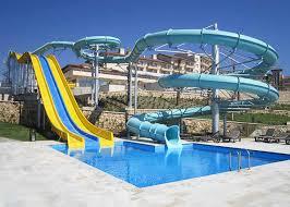 Combination Fiberglass Swimming Pool Water Slide