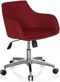 hjh office 670540 home office drehstuhl shape 100 stoff rot drehsessel sessel bürostuhl mit rollen höhenverstellbar