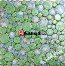 3d glass wall tile kitchen backsplash resin shell mosaic rnmt062