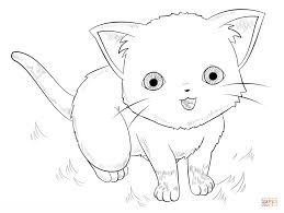 Click The Anime Cat Coloring