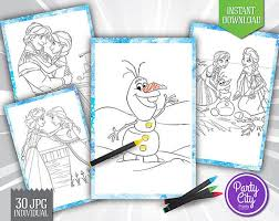 30 Frozen Coloring Pages Clipart Printable