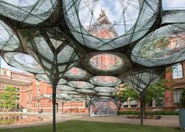 100 Architects Wings Robotically Fabricated Carbonfibre Pavilion Opens At The VA
