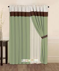 Waterfall Valance Curtain Set by Window Valance Sage Green