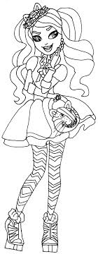 Kitty Cheshire Ever After High Coloring Page