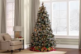 Vickerman Christmas Trees by Donner U0026 Blitzen 7 5 U0027 Lightly Flocked Buchanan Pine Pre Lit