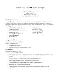 Sample Resume Summary Of Qualifications Samples