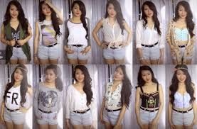 Cute High Waisted Jean Shorts Outfits Tumblr