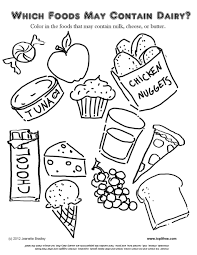 Coloring Download Food Group Pages Allergy For Kids Looking Free