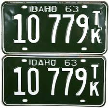 1963 Idaho Truck License Plates | Brandywine General Store Dmv Classic Vehicle Plate Beef Farmer Car Tag License Plates Cattlemen Truck Tag Deck Plates 1963 Idaho License Brandywine General Store 1974 Wyoming Alberta 1933 Bclass Commercial Truck Plates With Origi Flickr More The Auto Blonde Car Tahiti Fileillinois B Platejpg Wikimedia Commons Just Married Printed In Rear Window Of Yellow Pickup Truck With Luv Custom Vanity 2018 Jeep Wrangler Forums Jl Jt