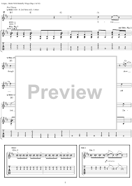 Smashing Pumpkins 1979 Tab by Bullet With Butterfly Wings With Tab Staff Sheet For
