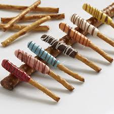 Halloween Decorated Pretzel Rods by Colorful Candy Dipped Pretzel Sticks Wilton