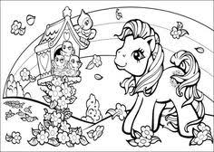 My Little Pony And Birds Coloring Pages