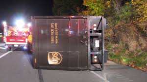 100 Ups Truck Accident UPS Driver Crashes After Deer Jumps Through Window WPXI