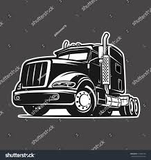 100 Cool Truck Pics Black White Illustration Vector Stock Vector Royalty