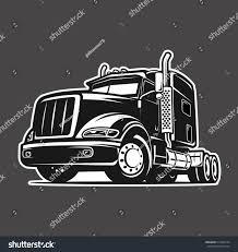 Cool Truck Black White Illustration Vector Stock Vector (Royalty ...