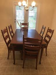 Beautiful 7 Pieces Dining Table With Leaf For Sale In Irmo SC