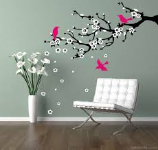 Wall Painting Tree With Birds