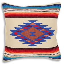 Color Style 6 Cream Captures The Rich History And Rustic Enchantment Of Mexican Southwest Native American Cultures Serape Throw Pillow Cover