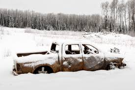 100 Wrecked Truck Wallpaper Trees Landscape Car Abandoned Snow Vehicle Wreck