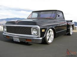 1972 69 70 CHEVY C10 STEPSIDE PICKUP TRUCK CHOPPED BAGGED 20S ...