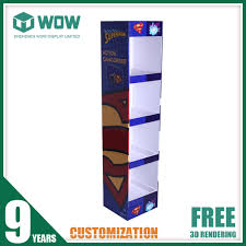 Portable T Shirt Floor Display Stand With Cardboard Material
