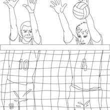 Volleyball Referee Block Coloring Page