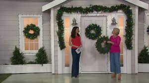 Qvc Pre Lit Christmas Trees by Bethlehem Lights Prelit Mixed Greens Holiday Collection On Qvc