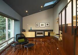 sloped ceiling lighting living room contemporary with skylights