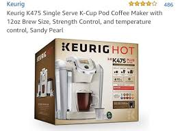 Keurig K475 Hot Plus Limited Edition Sandy Pearl Color Household