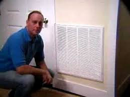 Decorative Return Air Grille 20 X 20 by New Return Air Grille Filter Youtube