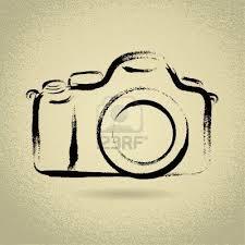 DSLR Camera Illustration With Brushwork Stock Photo