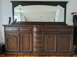 wohnzimmer schrank buffet kommode anrichte echtholz spiegeloption