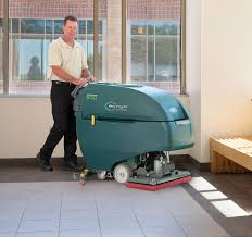 Riding Floor Scrubber Training by Speed Scrub 500 Walk Behind Scrubber