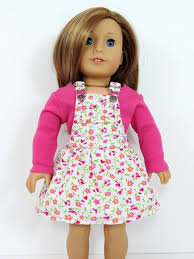 18 inch doll clothes ag doll dress trendy overall dress and t