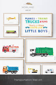Garbage Truck Print, Transportation Wall Art. Toddler Boy Bedroom ...