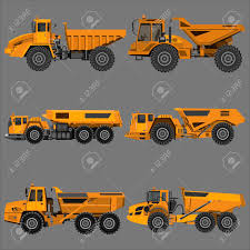 100 Articulating Dump Truck Powerful Articulated Isolated On A Grey Background