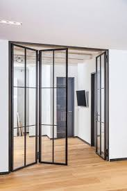 stahl glas tür glastür wohnzimmer falttür glas