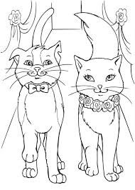 Barbie Princess And Cat Coloring Pages