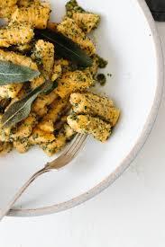 Pumpkin Gnocchi Recipe Nz by Sweet Potato Gnocchi With Sage Walnut Pesto Recipe Sweet