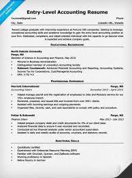 Entry Level Accountant Resume
