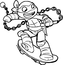 Ninja Turtle Coloring Pages Free