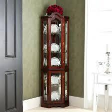 Curio Cabinets Walmart Canada by Fascinating Corner Curio Cabinet Pulaski Black Corner Curio